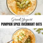 Pumpkin Spice Overnight Oats Collage with Text Overlay