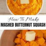 Mashed Butternut Squash Photo Collage with Text Overlay