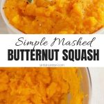 Mashed Butternut Squash Collage with Text