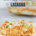 Buffalo Chicken Lasagna with Text