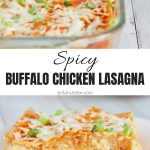 Buffalo Chicken Lasagna Image Collage with Text overlay