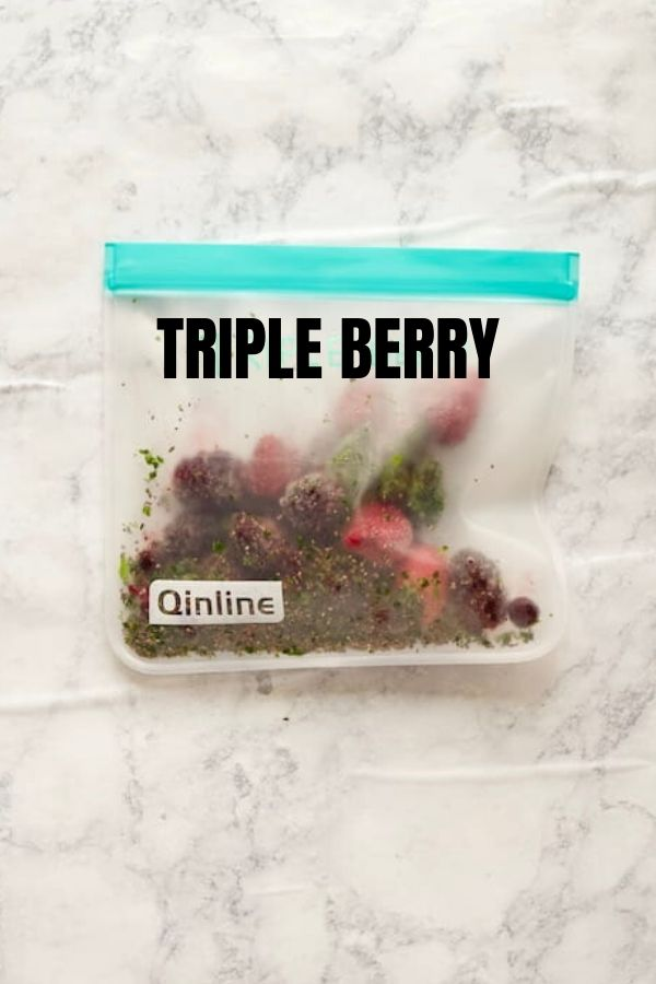 Triple Berry Frozen Smoothie Pack with Text