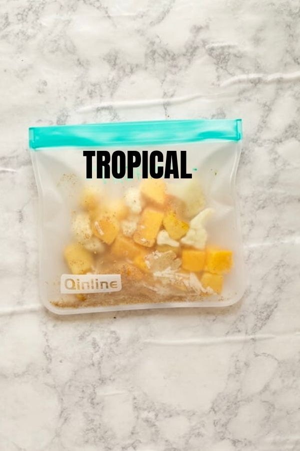 Tropical Frozen Smoothie Packs with Text