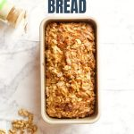 Candied Walnut Sweet Potato Bread Recipe with Text Overlay