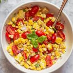 Summer Corn and Tomato Salad Image with Text