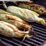 How to Grill Corn in the Husk with Text Overlay