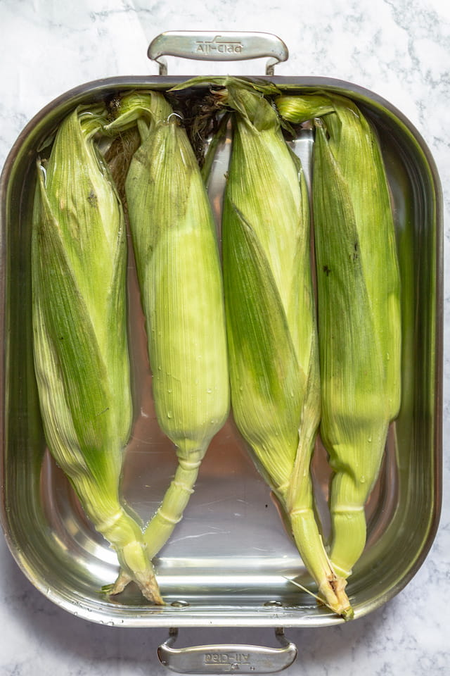 How to Grill Corn in the Husk Soaking in Water