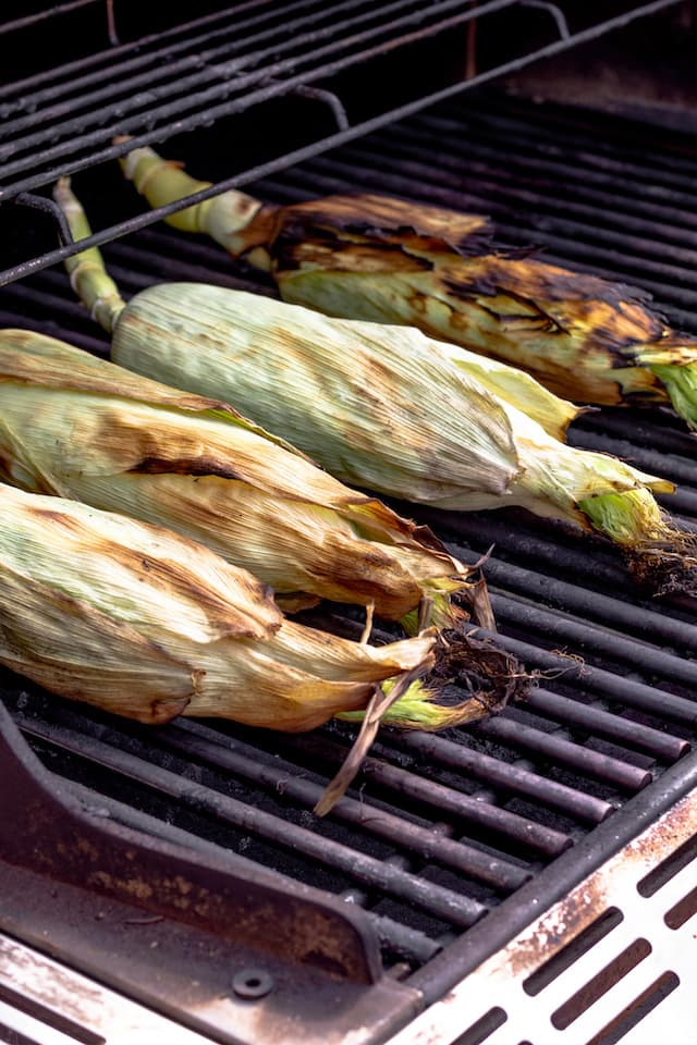 How to Grill Corn in the Husk Cooked