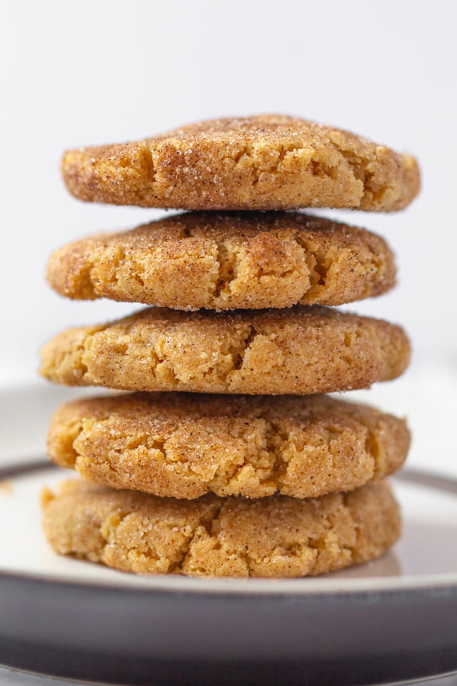 Easy Peanut Butter Snickerdoodles Stacked