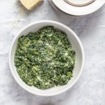 Healthy Creamed Spinach Recipe with Text