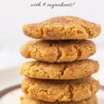 Easy Peanut Butter Snickerdoodles with Text Overlay