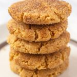 Easy Peanut Butter Snickerdoodles with Text