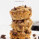 Vegan Chocolate Chip Banana Muffins with Text Overlay