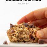Vegan Chocolate Chip Banana Muffins with Text