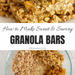 Sweet and Savory Granola Bars Collage with Text