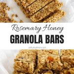 Sweet and Savory Granola Bars Collage with Text Overlay